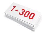Up to 300 letters & documents
