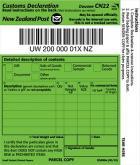 Customs Declaration (Green)