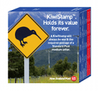 KiwiStamp postage stamps Dispenser Box, 100 stamps per box