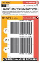 Courier Signature Required Upgrade Prepaid Ticket