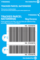 Tracked Nationwide Excess Prepaid Ticket