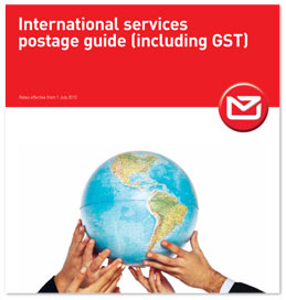 International services postage guide (including GST)