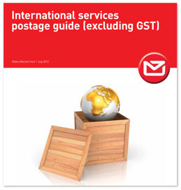International services postage guide (excluding GST)