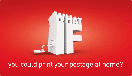 What if you could print your postage at home?