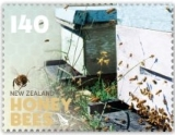 The $1.40 stamp shows field bees returning to the hive.