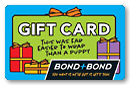 Bond and Bond gift card.