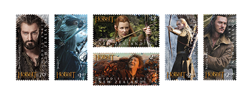 Set of stamps inspired by The Hobbit: The Desolation of Smaug.