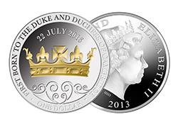 Royal baby coin.