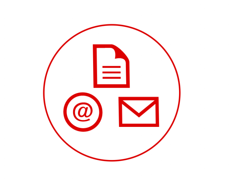 Icon for email and print media